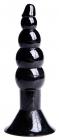 Черная анальная втулка, 11,5 см