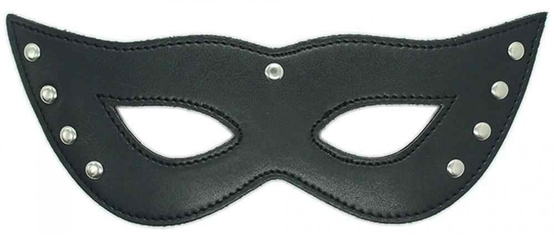 Черная маска из экокожи