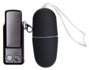 Черное беспроводное виброяйцо, 7,5 см