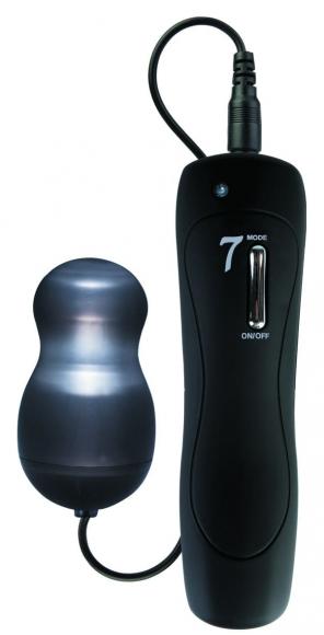 Черное виброяйцо с подсветкой, 5,5 см