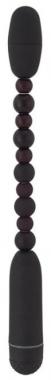Черный анальный вибростимулятор, 29 см