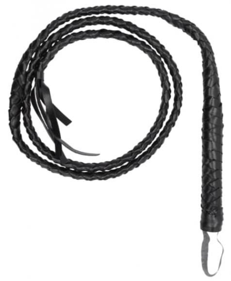 Черный кожаный кнут, 108 см