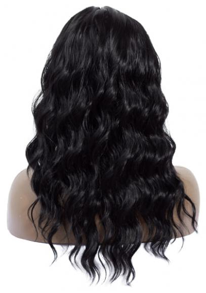 Черный волнистый парик
