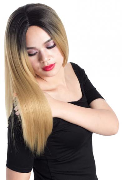 Длинный парик блонд без челки