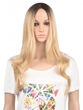 Длинный волнистый парик блонд