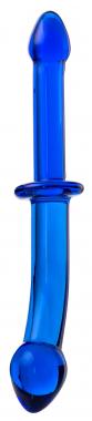 Двусторонний фаллоимитатор из стекла, 25 см