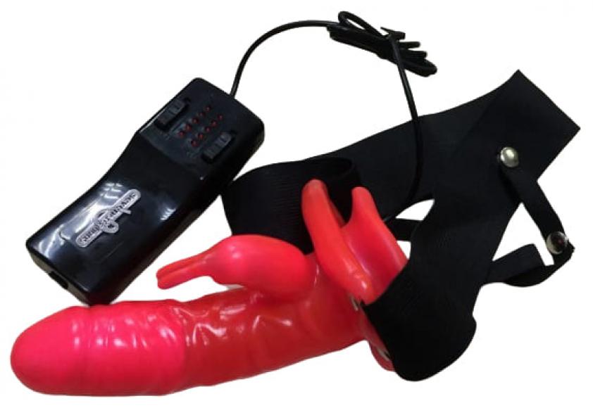 Фаллопротез с клиторальным стимулятором, 21 см