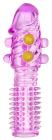 Фиолетовая насадка с шариками, 14 см