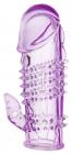 Фиолетовая насадка со стимуляцией клитора, 13 см