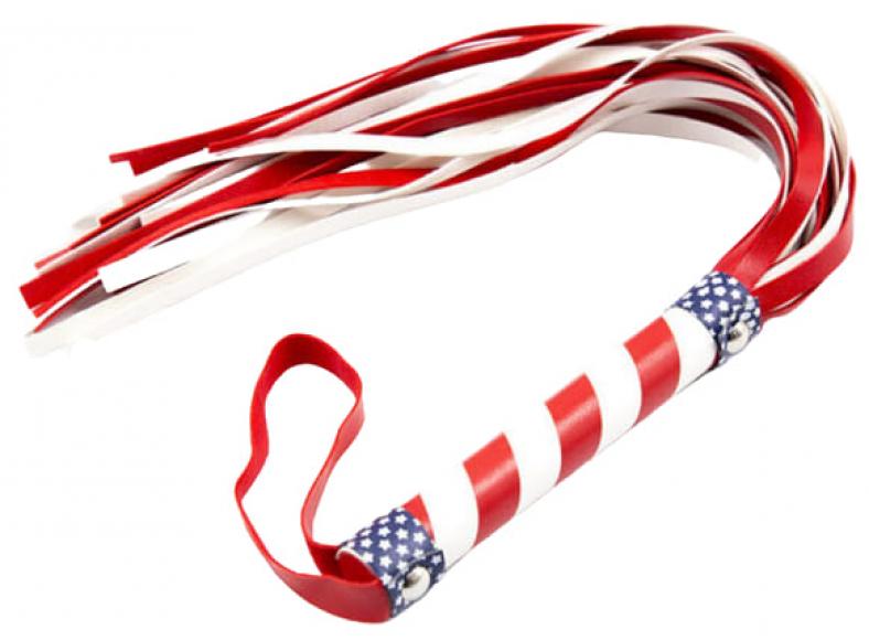 Флоггер в цвет американского флага, 50 см