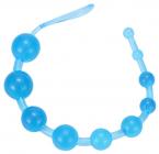 Голубые анальные шарики, 34 см