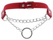 Красное ожерелье-чокер