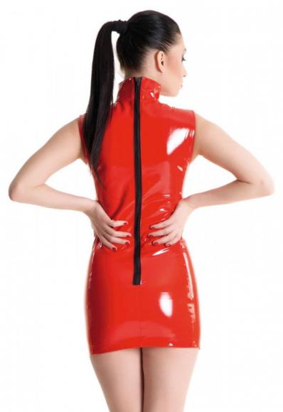 Красное платье с на молнии, р. 44