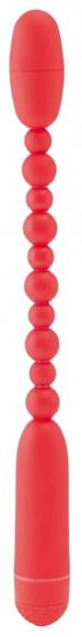 Красный анальный вибростимулятор, 29 см