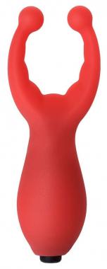 Красный мини-вибратор Штучка, 7,5 см