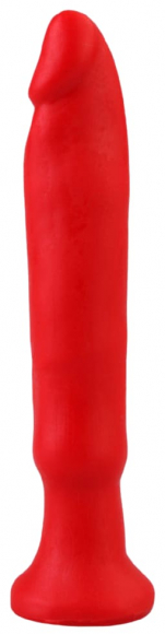 Красный стимулятор без мошонки, 14 см