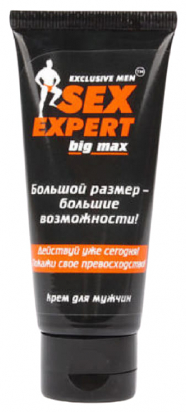 Крем для коррекции размеров пениса Big Max серия Sex Expert, 50 мл