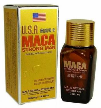 Maca USA Strong Man препарат для потенции, 10 табл.