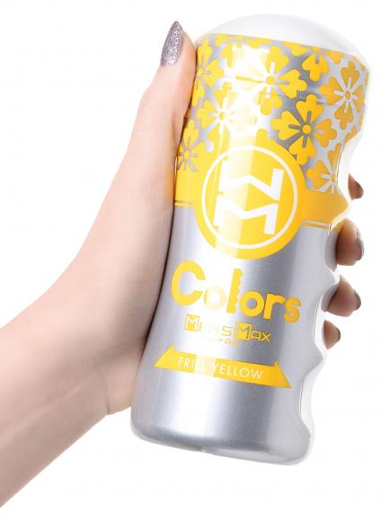 Мастурбатор нереалистичный Colors Frill Yellow, 15 см