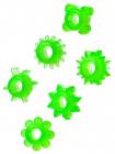 Набор колец зеленого цвета, 6 шт.
