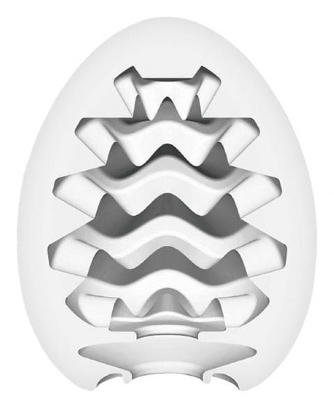 Нереалистичный мастурбатор-яйцо Wavy, 6,1 см