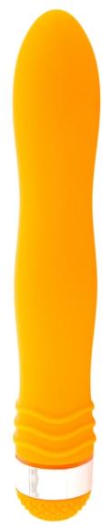 Оранжевый анальный вибростимулятор, 21,5 см