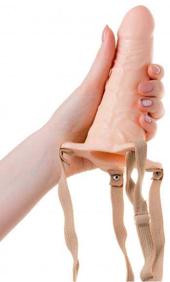 Пустотелый протез телесного цвета, 15,5 см
