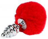 Ребристая пробка с красным хвостиком, 15 см