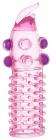 Розовая насадка с шариками, 13 см