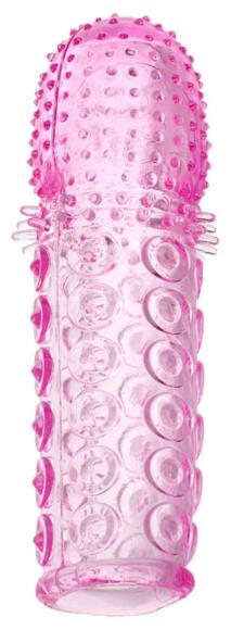 Розовая рельефная насадка, 13,5 см