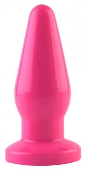 Розовый анальный плаг, 13,6 см