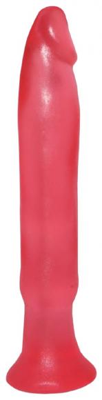 Розовый анальный стимулятор без мошонки, 14 см