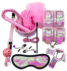 Розовый БДСМ-набор из 10-и предметов