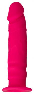 Розовый фаллоимитатор на присоске, 13,5 см