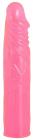 Розовый фаллос с венками, 19 см