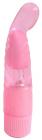 Розовый мультискоростной вибратор, 18 см