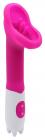 Розовый вибростимулятор клитора, 19,5 см