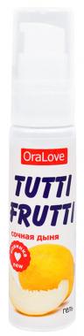 Съедобная гель-смазка Tutti-Frutti со вкусом дыни, 30 мл