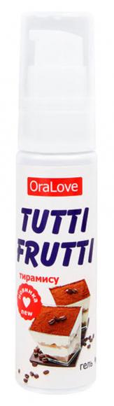 Съедобная гель-смазка Tutti-Frutti со вкусом тирамису, 30 мл