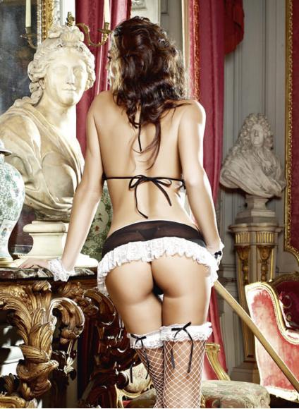 Сексуальный костюм горничной для ролевых игр, р. 42