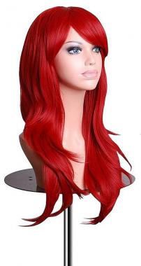 Синтетический красный парик