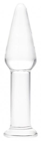 Стеклянная анальная пробка, 12 см