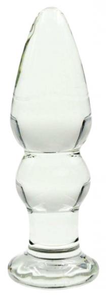 Стеклянная анальная втулка, 11 см