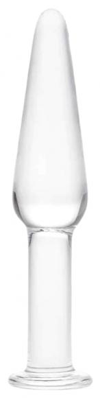 Стеклянная анальная втулка, 12 см