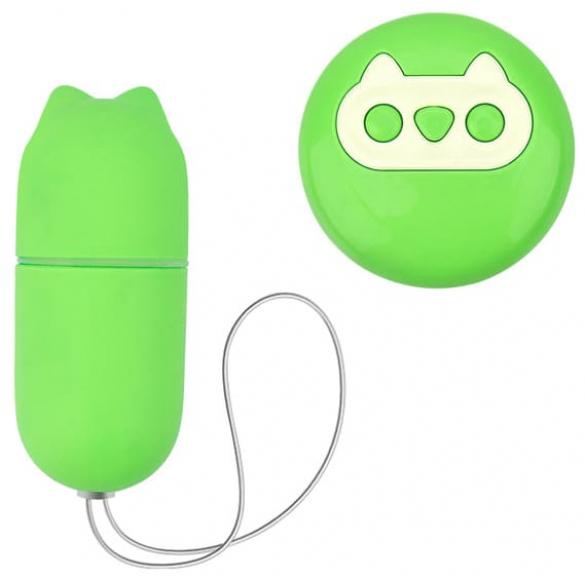 Зеленое беспроводное виброяйцо, 7,5 см