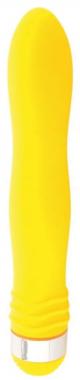 Желтый анальный вибростимулятор, 18 см