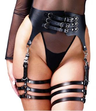 Женские гартеры с широким ремнем