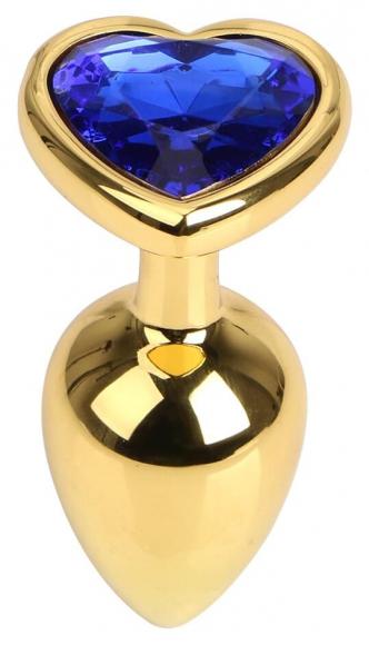 Золотистая пробка с синим камнем, 7 см